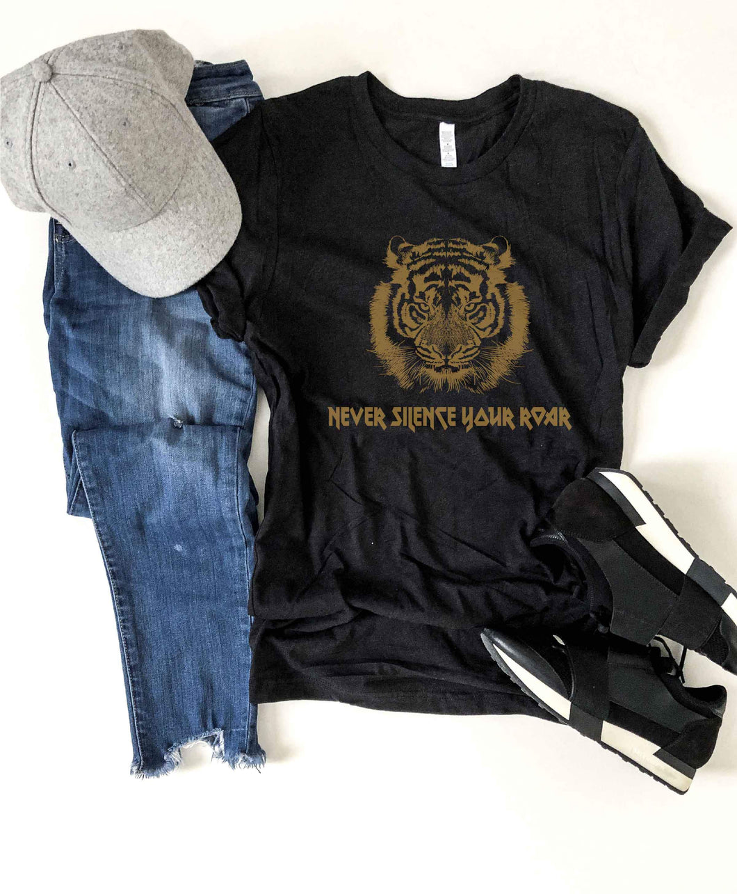 Never silence your roar kids tee Short sleeve kids tee Bella canvas 3001y