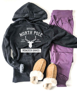 North Pole french terry hoodie Holiday hoodie lane seven french terry hoodie