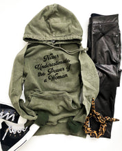 Power of a woman vintage wash hoodie Edgy hoodie Lane Seven vintage hoodie XS Vintage olive