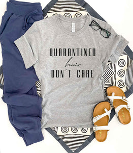 Quarantined hair don't care tee Short sleeve senior grad tee Bella Canvas 3001 XS Athletic heather grey