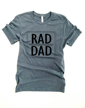 Rad Dad tee Short sleeve dad tee Bella canvas 3001 Heather stone XS Heather storm