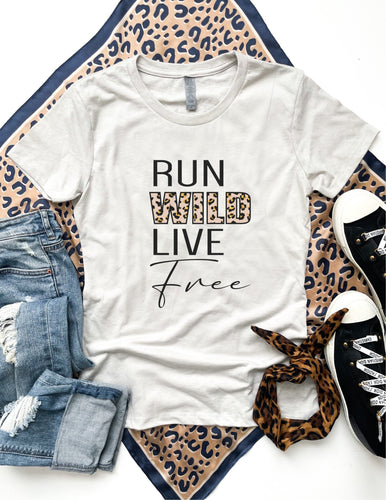 Run wild live free tee Short sleeve miscellaneous tee Bella Canvas 3001