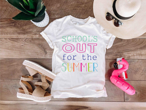 Schools out for summer tee Short sleeve teacher tee Bella Canvas 3001