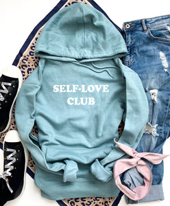 Self-love club fleece hoodie Miscellaneous hoodie Cotton heritage lightweight fleece and independent trading hoodie XS Agave