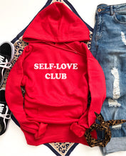 Self-love club fleece hoodie Miscellaneous hoodie Cotton heritage lightweight fleece and independent trading hoodie XS Poppy red