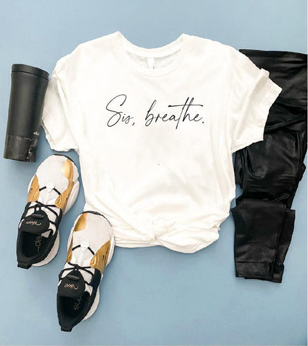 Sis, breathe unisex crew tee Costa Threads
