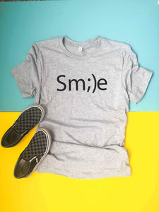 Smile kids tee Short sleeve inspirational tee Next Level 6210 Heather Grey 2t Heather grey