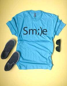 Smile kids tee Short sleeve inspirational tee Next Level 6210 Heather Grey