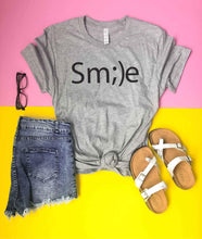 Smile tee Short sleeve inspirational tee Next Level 6210 Heather Grey