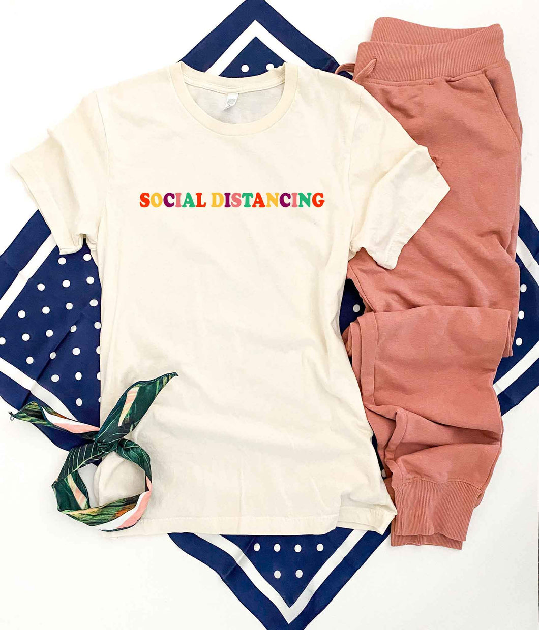 Social distancing tee Short sleeve miscellaneous tee Bella Canvas 3001