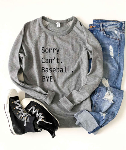 Sorry can't baseball french terry raglan sweatshirt Baseball french Terry raglan Lane seven French Terry raglan