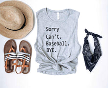 Sorry can't baseball unisex muscle tank Baseball french Terry raglan Lane seven French Terry raglan
