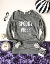 Spooky vibes french terry raglan Halloween French Terry raglan Lane seven French Terry raglan XS Heather grey