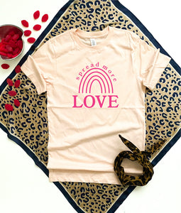 Spread more love tee Short sleeve valentines day tee Lane seven unisex tee