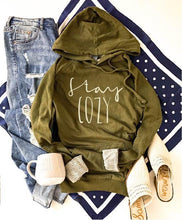 Stay cozy french terry hoodie Fall French Terry hoodie Lane seven and cotton heritage French Terry raglans XS Olive