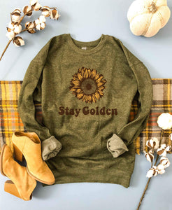 Stay Golden sweatshirt Fall Sweatshirt Lane seven unisex sweatshirt S Olive