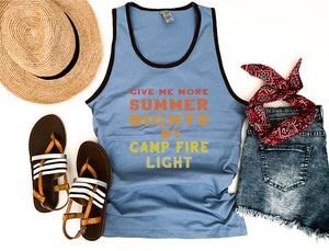 Summer nights unisex ringer tank Patriotic tank Cotton heritage m1792
