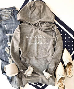 Sweater weather french terry hoodie Fall French Terry hoodie Lane seven and cotton heritage French Terry raglans XS Heather grey