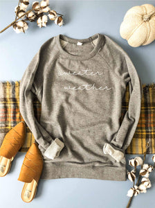 Sweater weather french terry raglan-several color options Fall French Terry raglan Lane seven French Terry raglan XS Heather grey