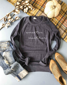Sweater weather french terry raglan-several color options Fall French Terry raglan Lane seven French Terry raglan XS Navy