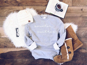 Sweater weather sweatshirt- the grey collection Fall Sweatshirt Lane seven unisex sweatshirt