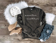Sweater weather sweatshirt- the grey collection Fall Sweatshirt Lane seven unisex sweatshirt S Charcoal
