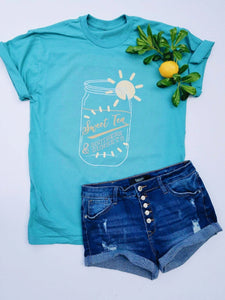 Sweet Tea Short sleeve southern tee Gildan comfort wash