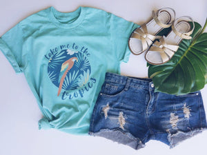 Take me to the Tropics tee Short sleeve summer tee Costa Threads