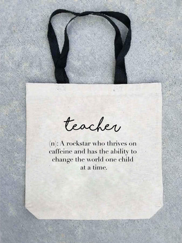 Teacher definition tote bag Tote bag Costa Threads