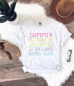 Teachers are normal humans Short sleeve teacher tee Bella Canvas 3001 ash