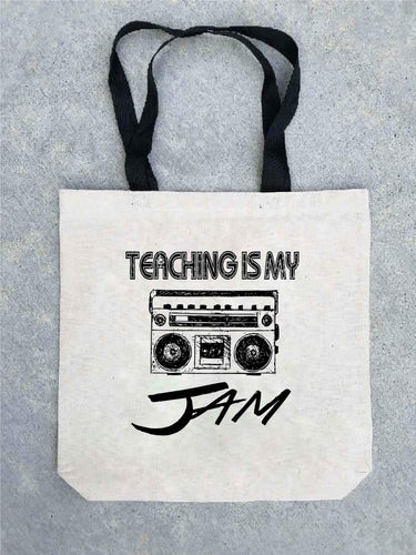 Teaching is my jam tote bag Tote bag Costa Threads