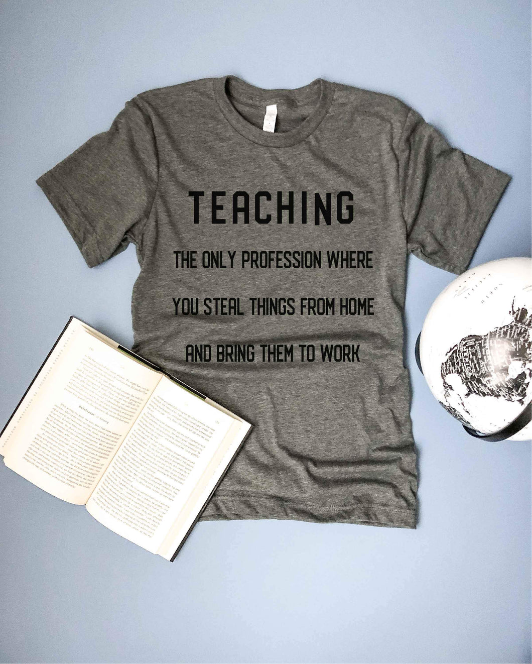 Teaching profession mens tee Short sleeve mens teacher tee Bella Canvas 3001 deep heather