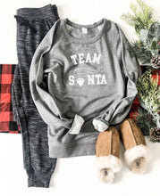Team Santa french terry raglan sweatshirt Holiday French Terry raglan Lane seven French Terry raglan XS Heather grey