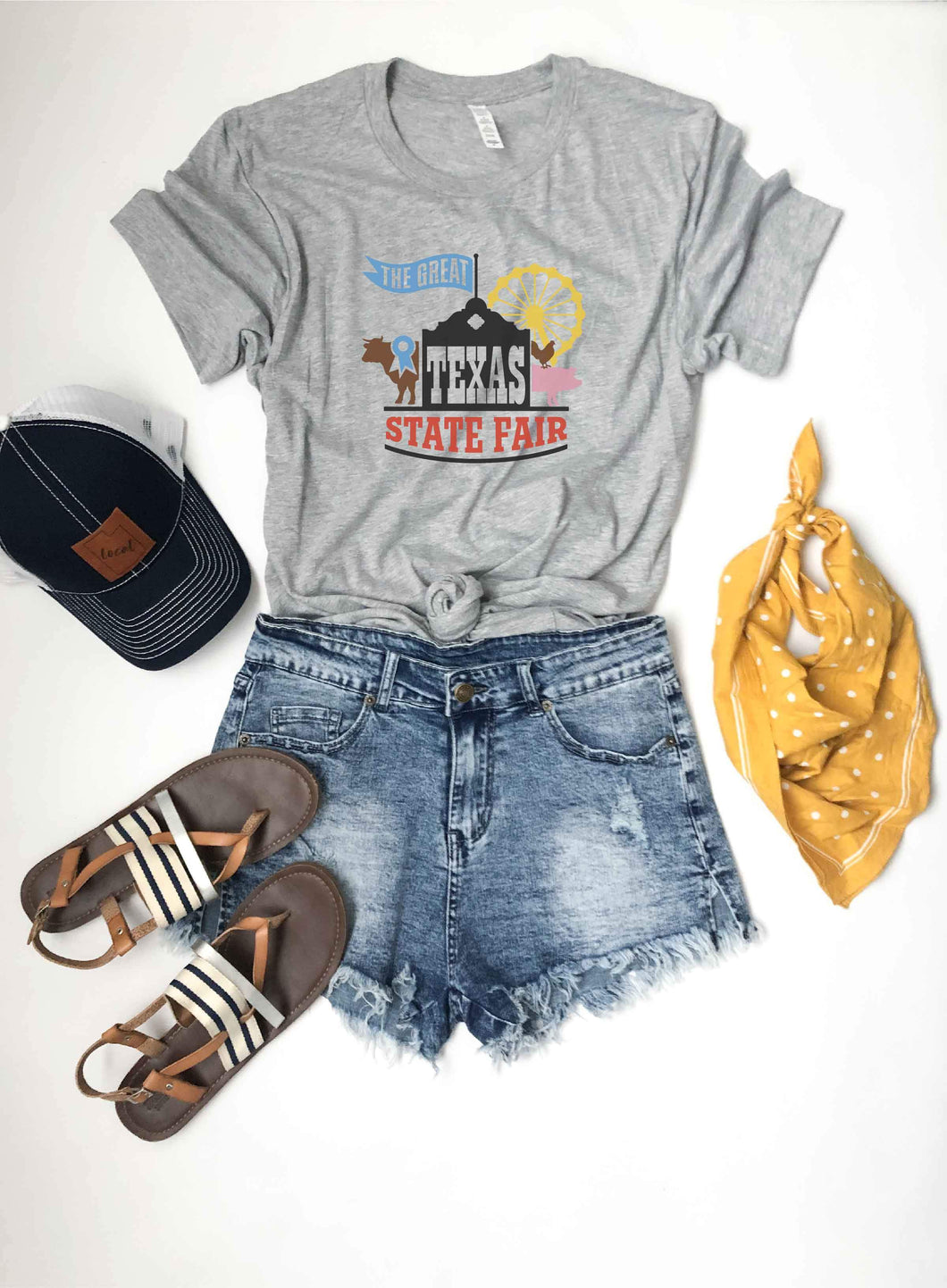 The great state fair tee Short sleeve graphic tee Bella Canvas 3001 athletic Heather