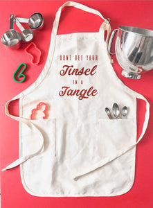 Tinsel in a tangle apron Holiday apron Apron
