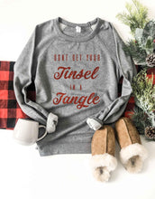Tinsel in a tangle french terry raglan sweatshirt Holiday sweatshirt Cotton heritage and lane seven French Terry raglan XS Heather grey
