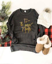 Tis the season french terry raglan sweatshirt Holiday French Terry raglan Cotton heritage and lane seven French Terry raglan XS Charcoal