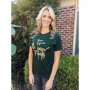 Tis the season to sparkle tee Short sleeve holiday tee Bella Canvas 3001