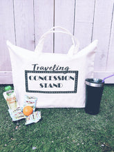 Traveling concession stand tote bag-large size Tote bag Heavy canvas tote bag- natural/black- medium Natural