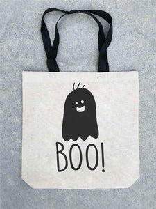Trick or treat tote bag- customizable! Tote bag Costa Threads Boo tote bag
