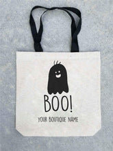 Trick or treat tote bag- customizable! Tote bag Costa Threads Boo tote bag w/boutique name
