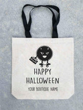 Trick or treat tote bag- customizable! Tote bag Costa Threads Happy Halloween tote bag w/boutique name