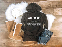 Wake me up when it's summer hoodie Winter hoodie Lane seven unisex hoodie charcoal S Charcoal