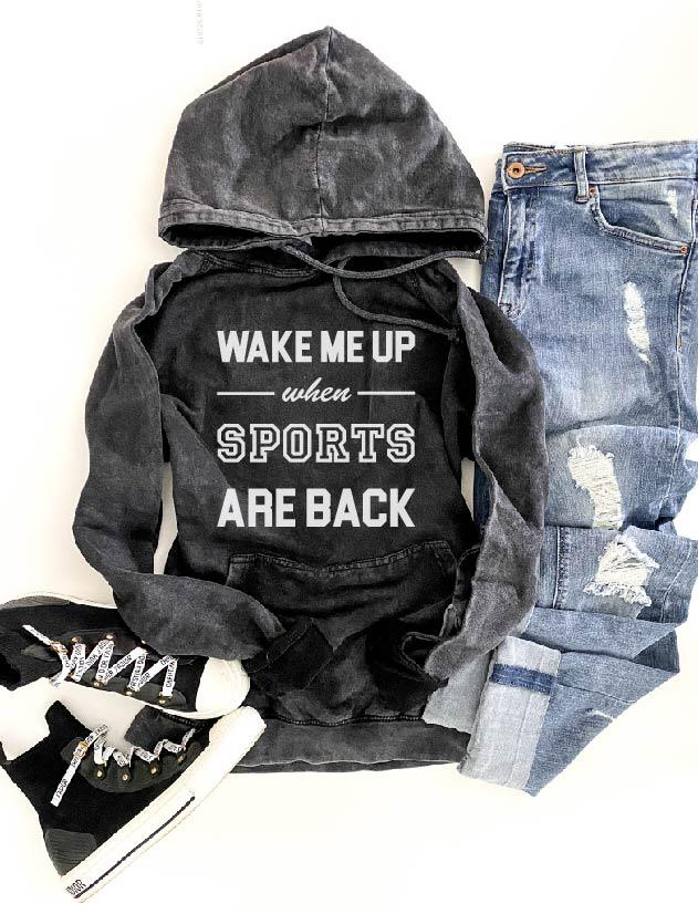Wake me up when sports are back hoodie Miscellaneous French Terry raglan Lane seven French Terry raglan mauve