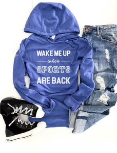 Wake me up when sports are back hoodie Miscellaneous French Terry raglan Lane seven French Terry raglan mauve XS Royal blue