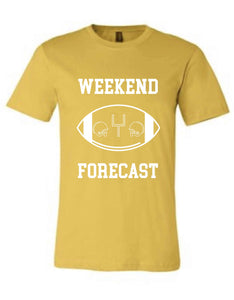 Weekend forecast- Anvil brand Short sleeve football tee Anvil 980 S Gold
