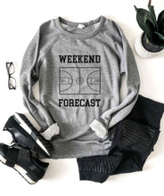 Weekend forecast basketball French Terry raglan Sports French Terry raglan Cotton heritage and lane seven French Terry raglan XS Heather grey