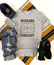 Weekend Forecast basketball tee Short sleeve basketball tee Bella canvas and Next Level