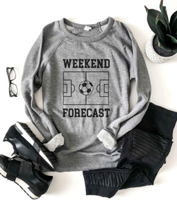 Weekend forecast soccer french terry raglan Football french Terry Lane seven French Terry raglan