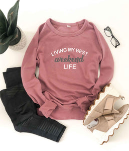Weekend life french terry raglan Inspirational French Terry raglan Cotton heritage and lane seven French Terry raglan XS Mauve